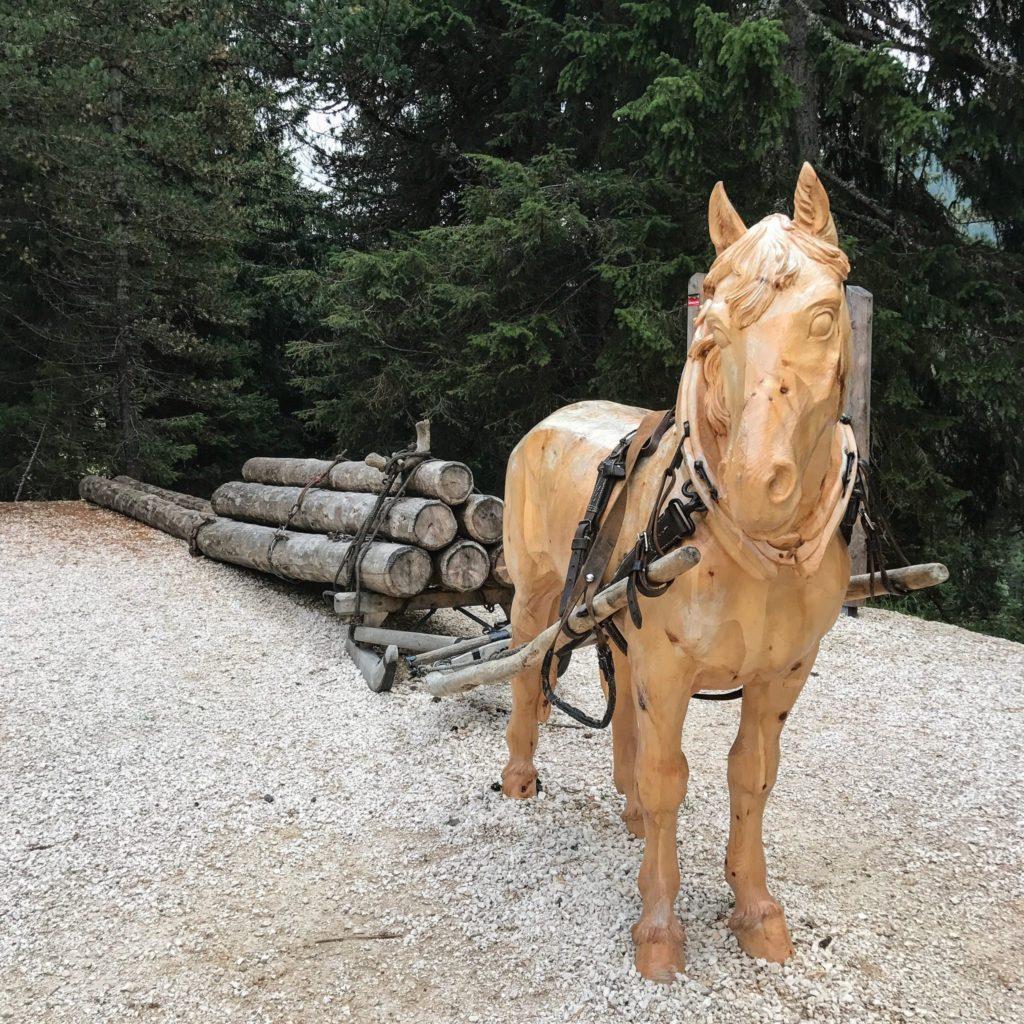 cavallo di legno al latemar