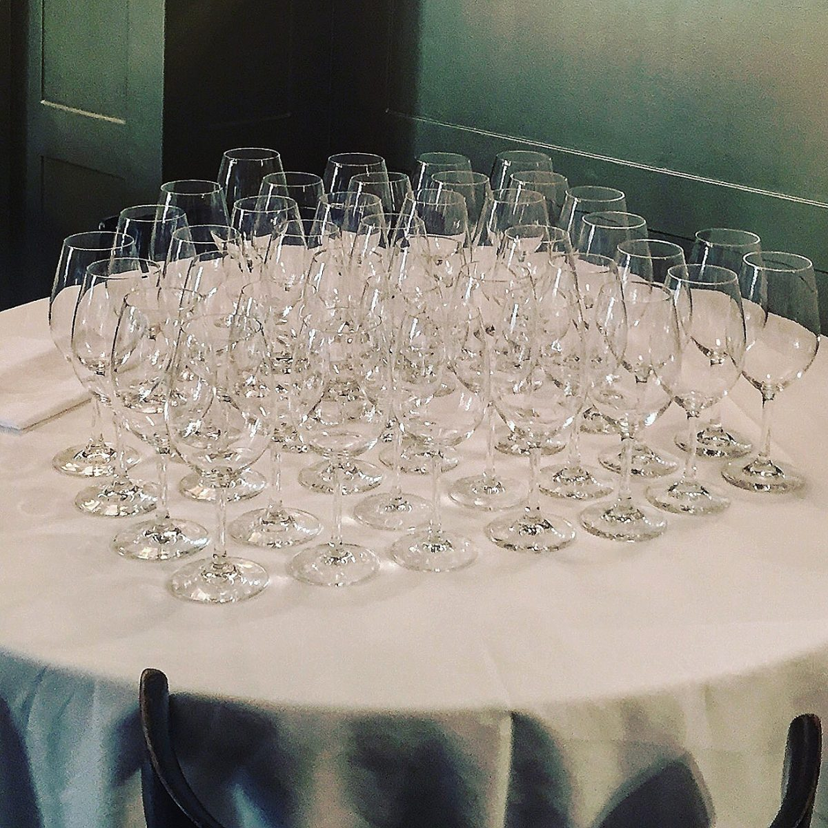 bicchieri al ristorante brisa a milano