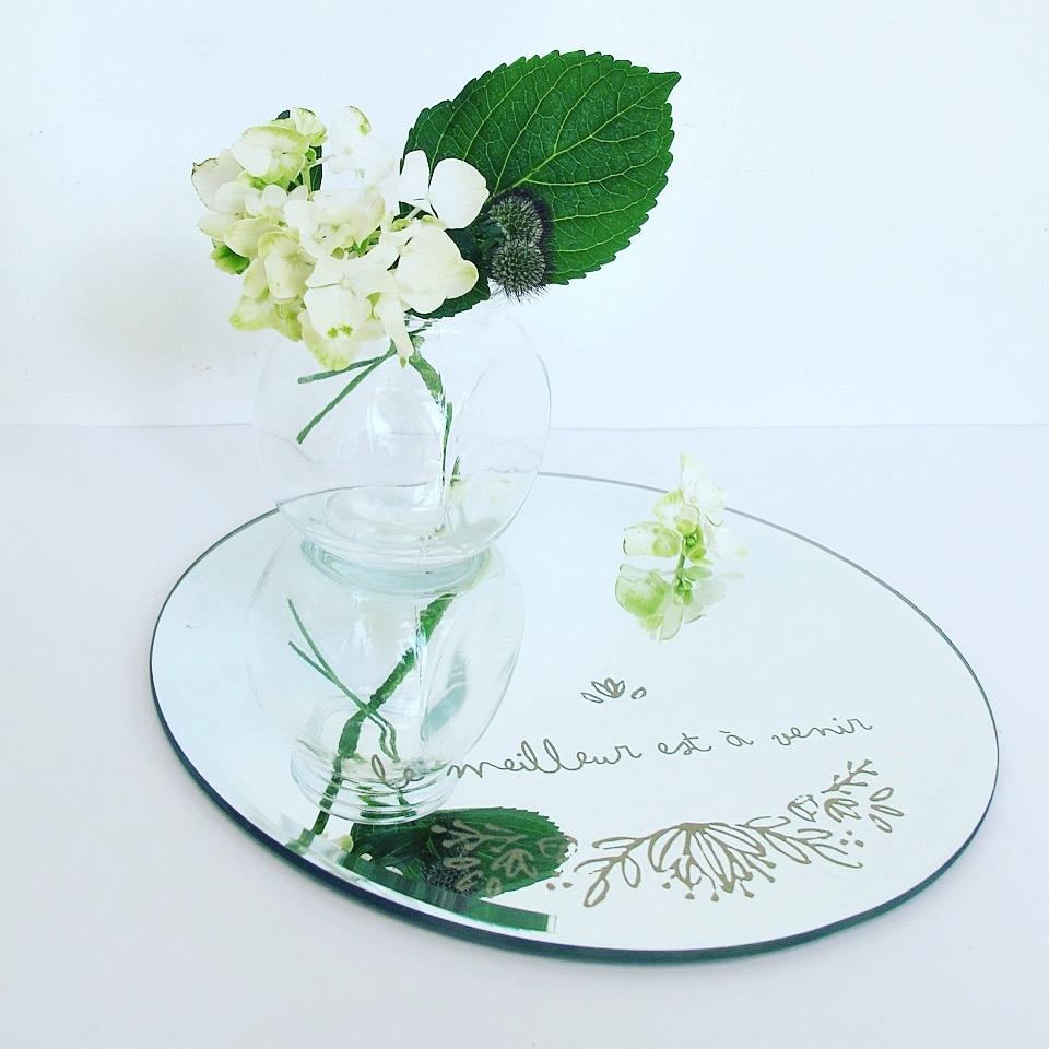 specchio con fiore di bica negozi milano comprare