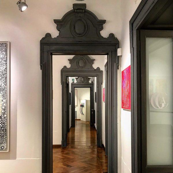 veduta della mostra kaufmann alla galleria cavaciuti